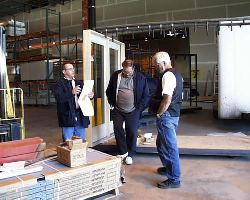 BMC Westu0027s Tom Zaelit And SLASu0027s Siegfried Jachmann And Bruce Grim Go Over  The 3 Page List Of Doors And Door Hardware Destined For The Harmons  Observatory.